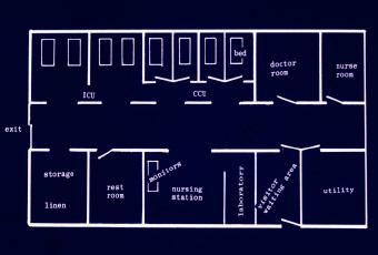 開設当初の見取り図(昭和48年)